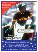 Front of Card Garry Templeton